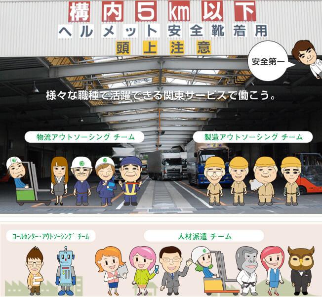 関東サービス職種紹介